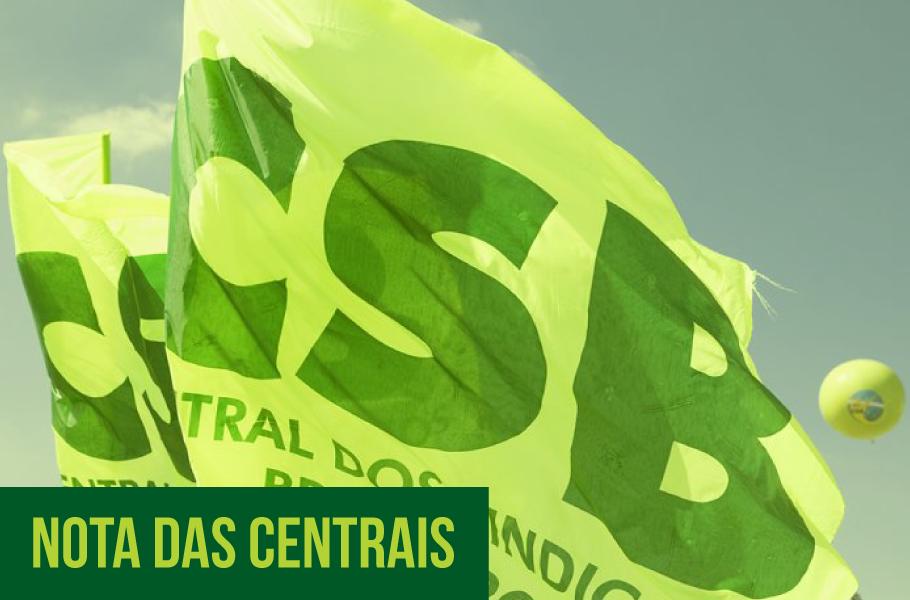 Centrais sindicais publicam nota sobre coronavirus e pautas trabalhistas