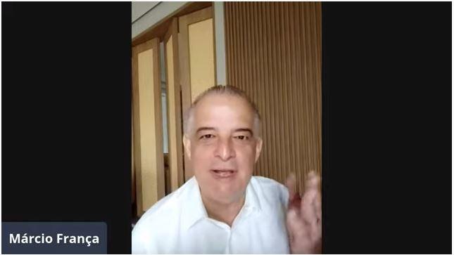 Para Dória, servidor público é vagabundo, diz Márcio França em live do 1º de Maio