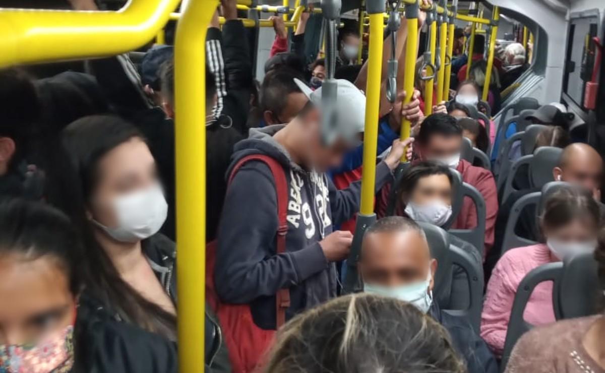 Transporte coletivo registra lotação no primeiro dia do rodízio mais rígido em São Paulo