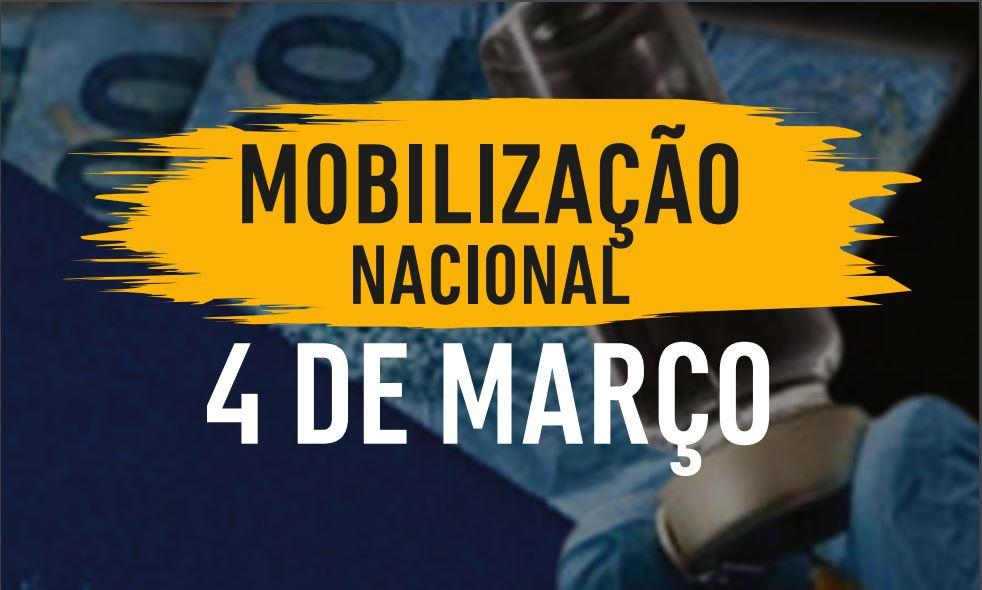 Entidades Sindicais se mobilizam pelo auxílio, vacinas e empregos no próximo dia 4