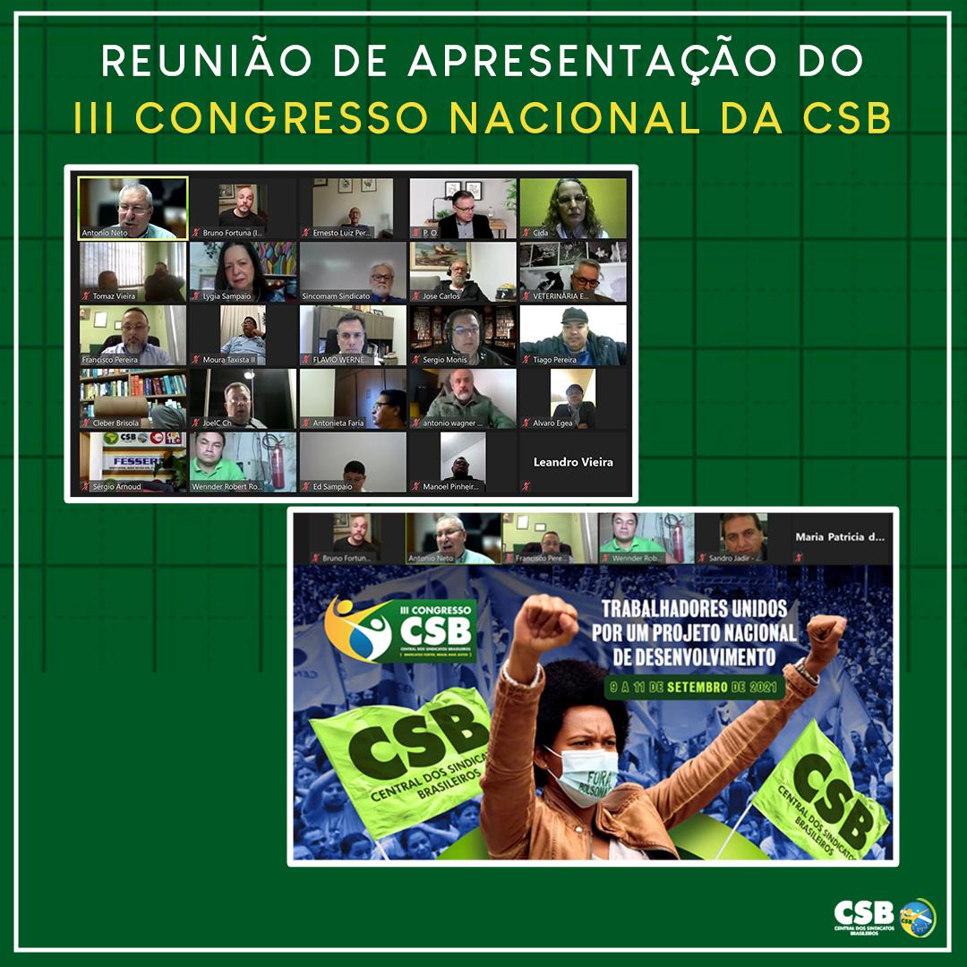 Com foco na reconstrução do País e do movimento sindical, executiva aprova realização de III Congresso da CSB