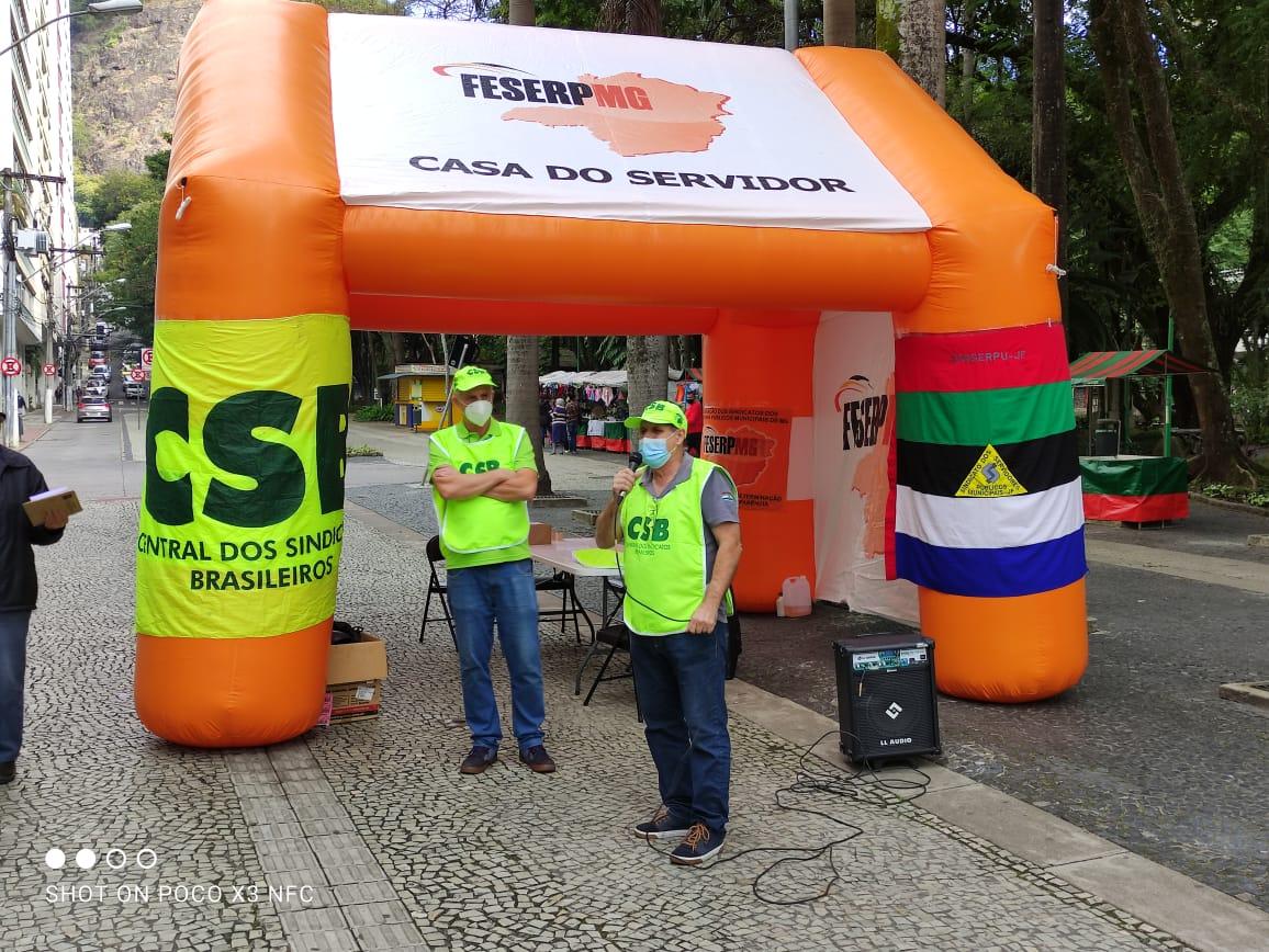 Feserp Minas, CSB e CSPB realizam ato no Dia Nacional de Luta contra a PEC 32