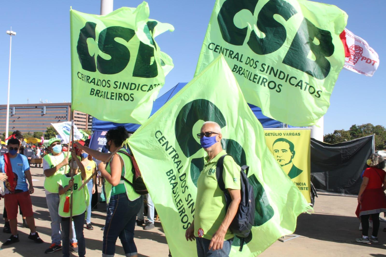 CSB nas ruas do Brasil durante o #24JFORABOLSONARO