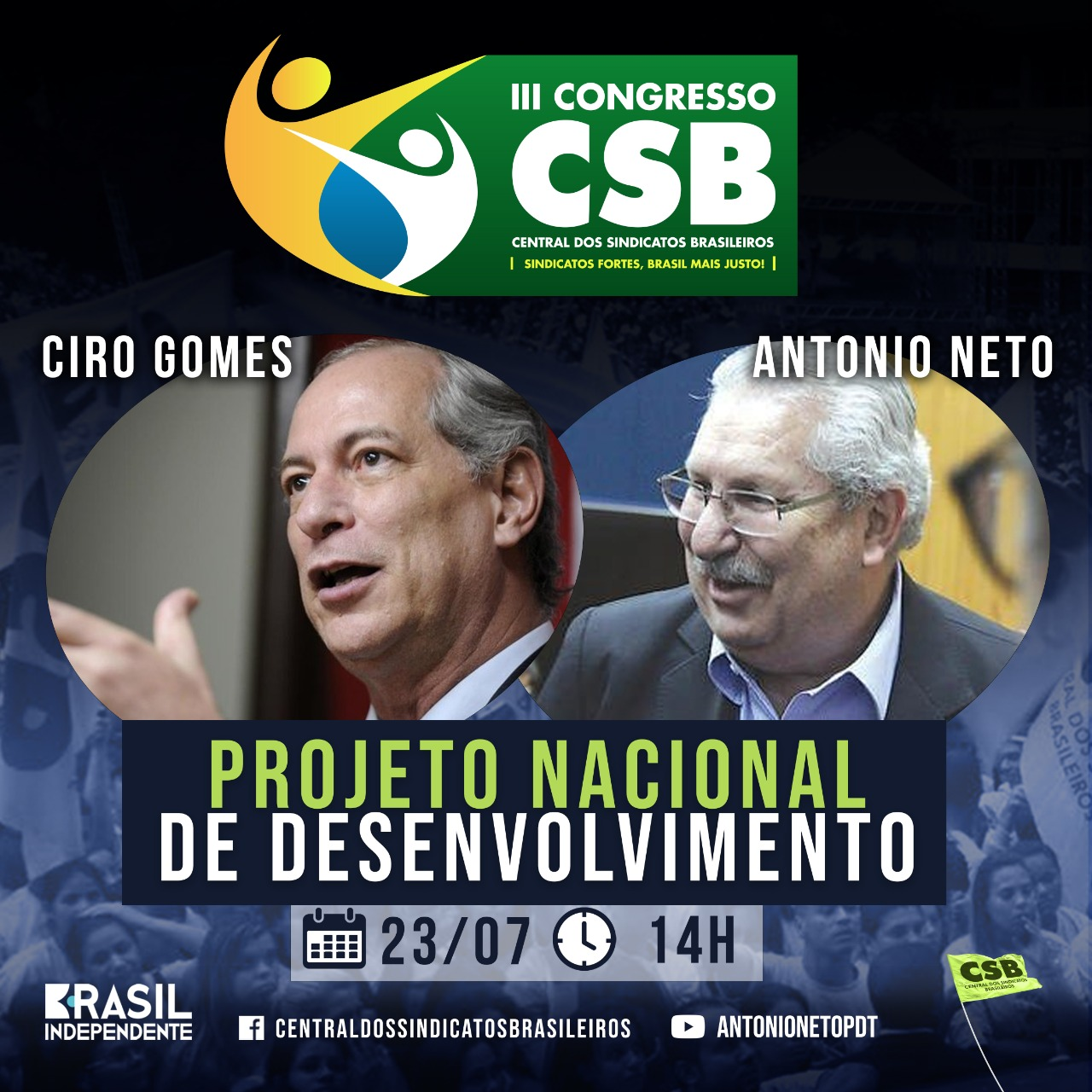 Junte-se a Ciro Gomes e Antonio Neto nos seminários CSB – Vagas Limitadas!