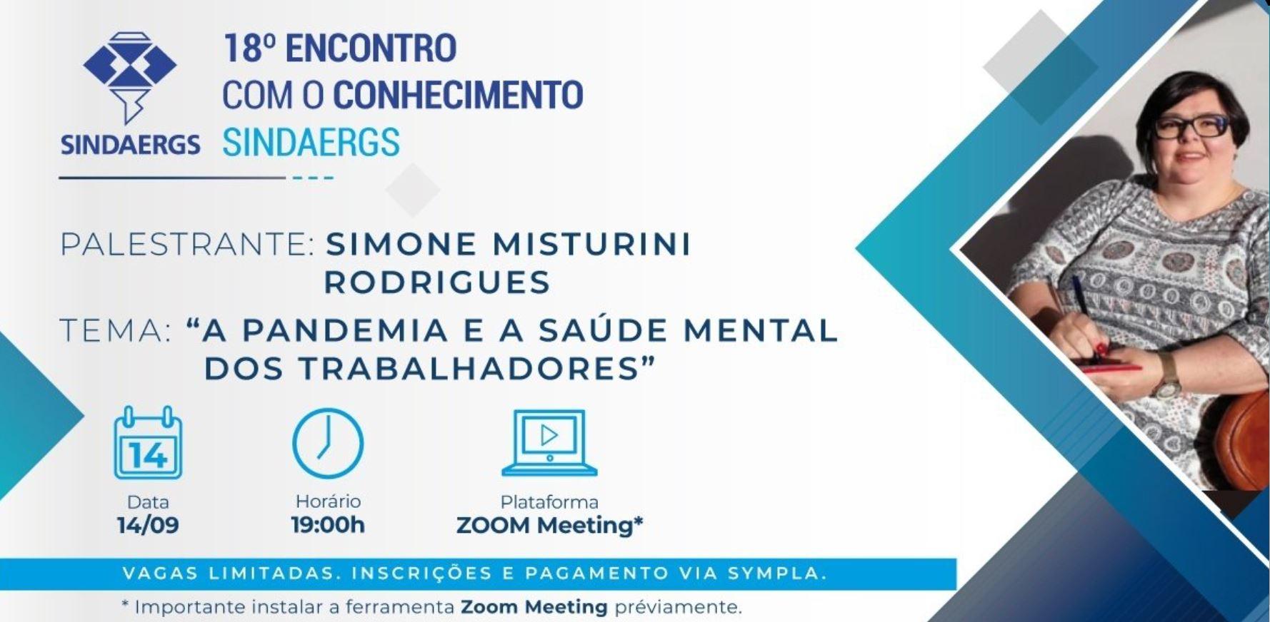 """SINDAERGS debate 'Pandemia e a Saúde Mental do Trabalhador"""" – Participe!"""